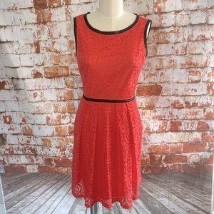 En focus studio coral lace dress size 6